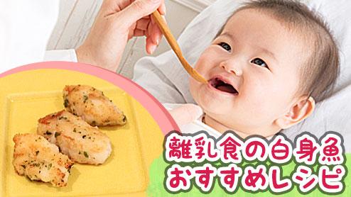 離乳食の白身魚で初期から与えていい種類は?段階別レシピ