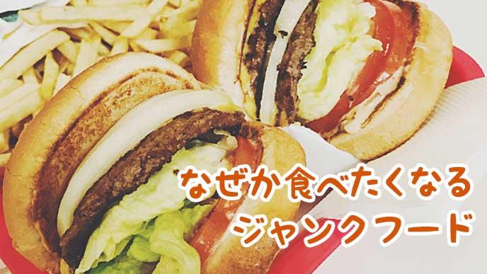 ボリュームがありそうなハンバーガー