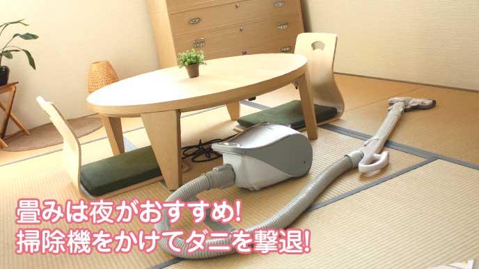 畳の部屋と掃除機