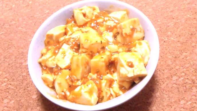麻婆豆腐完成品