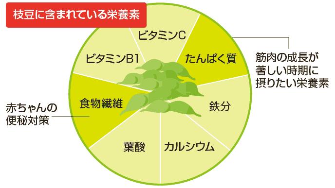 図解:枝豆の栄養素