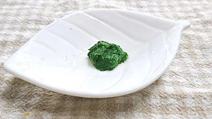 水菜のペースト完成品
