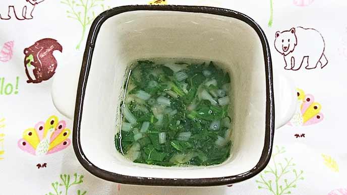 もやしと小松菜のだし煮完成品