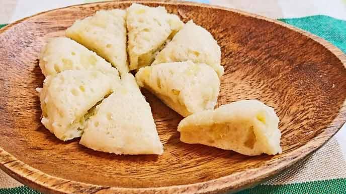 豆乳バナナ蒸しパン完成品