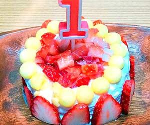 南香織さん家のベビーダノンの1歳ケーキ