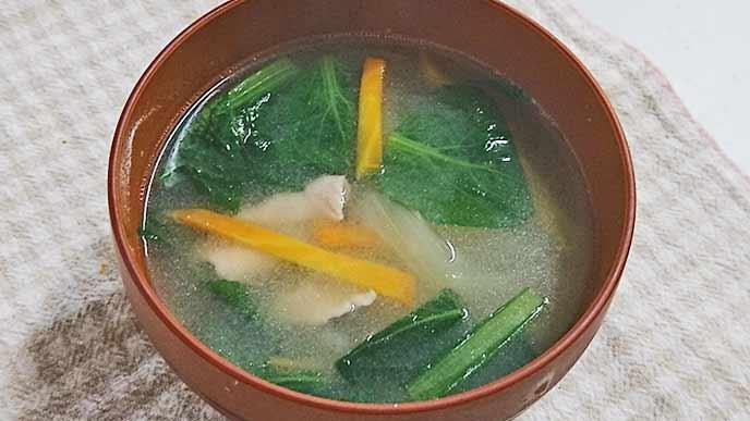 炒め野菜豚汁の完成写真