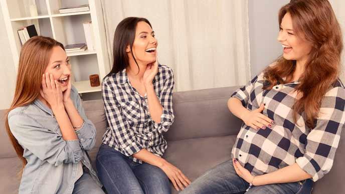 妊婦とその女友達