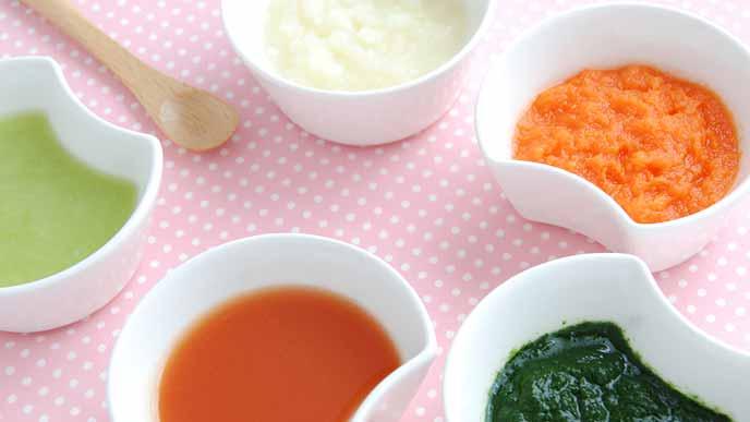すりおろし野菜やベビーフード