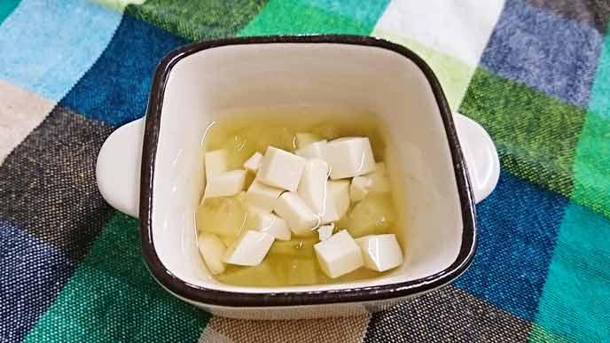 なすと豆腐のだし煮完成品