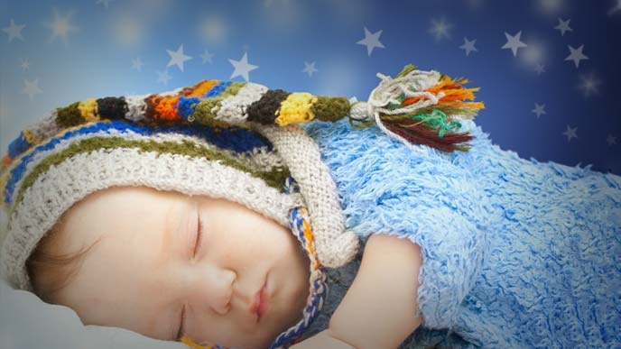 すやすやと眠る赤ちゃん