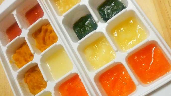 製氷皿で下ごしらえした食材を保存